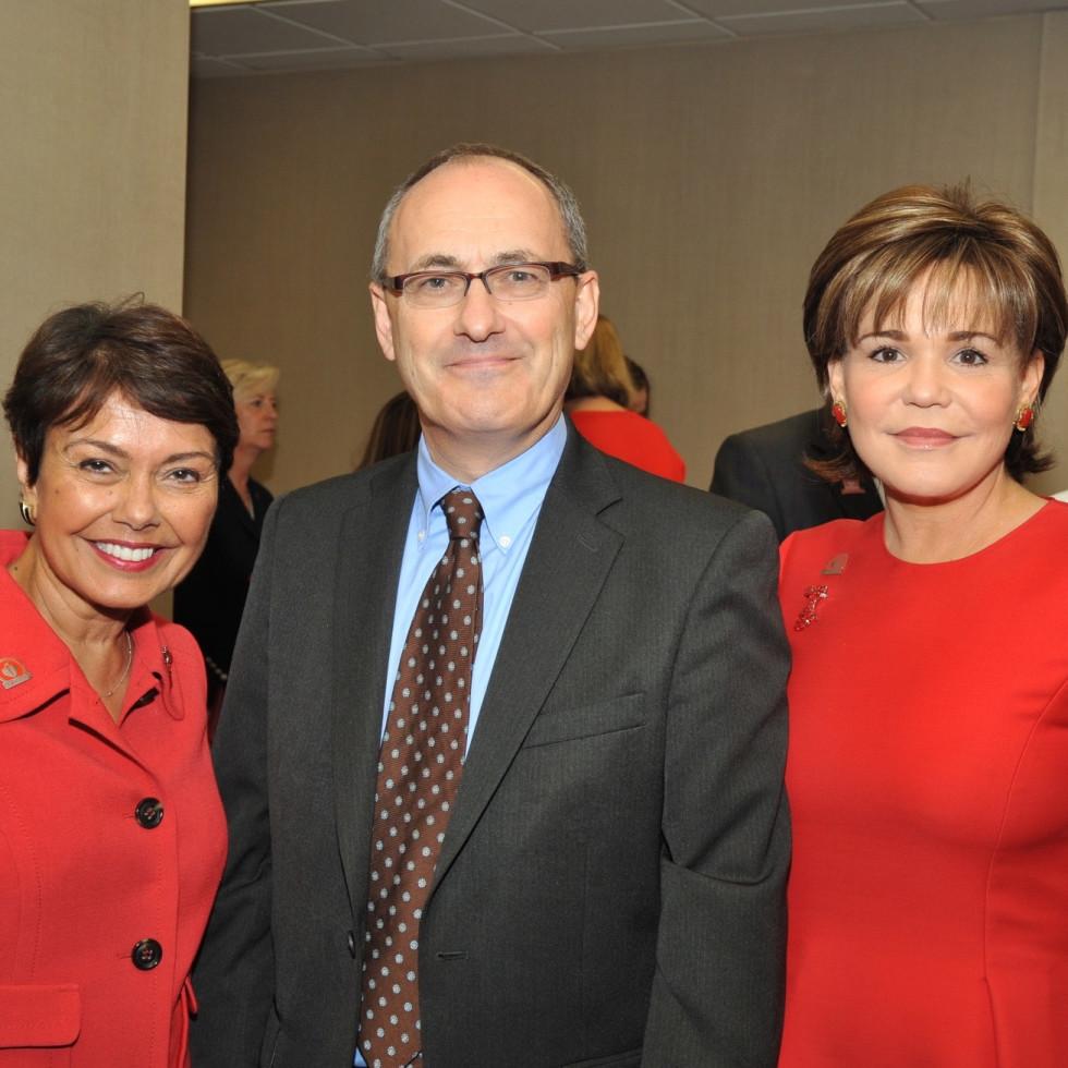 Samina Farid, Matthew Ellis, Hallie Vanderhider, at Go Red for Women luncheon