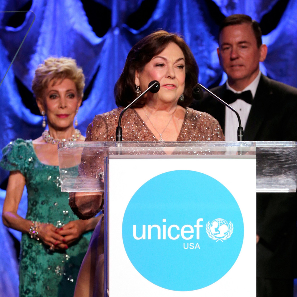 Houston, UNICEF Audrey Hepburn Society Ball, May 2017, Margaret Alkek Williams, Rosanette Cullen, Barron Segar
