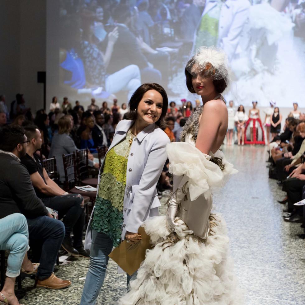 Houston, MFAH Fashion Fusion 2017, May 2017, Luisa Nadarajah with model
