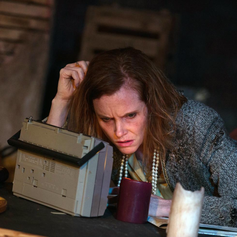 Felicia Bertch in The Birds at Theatre Too