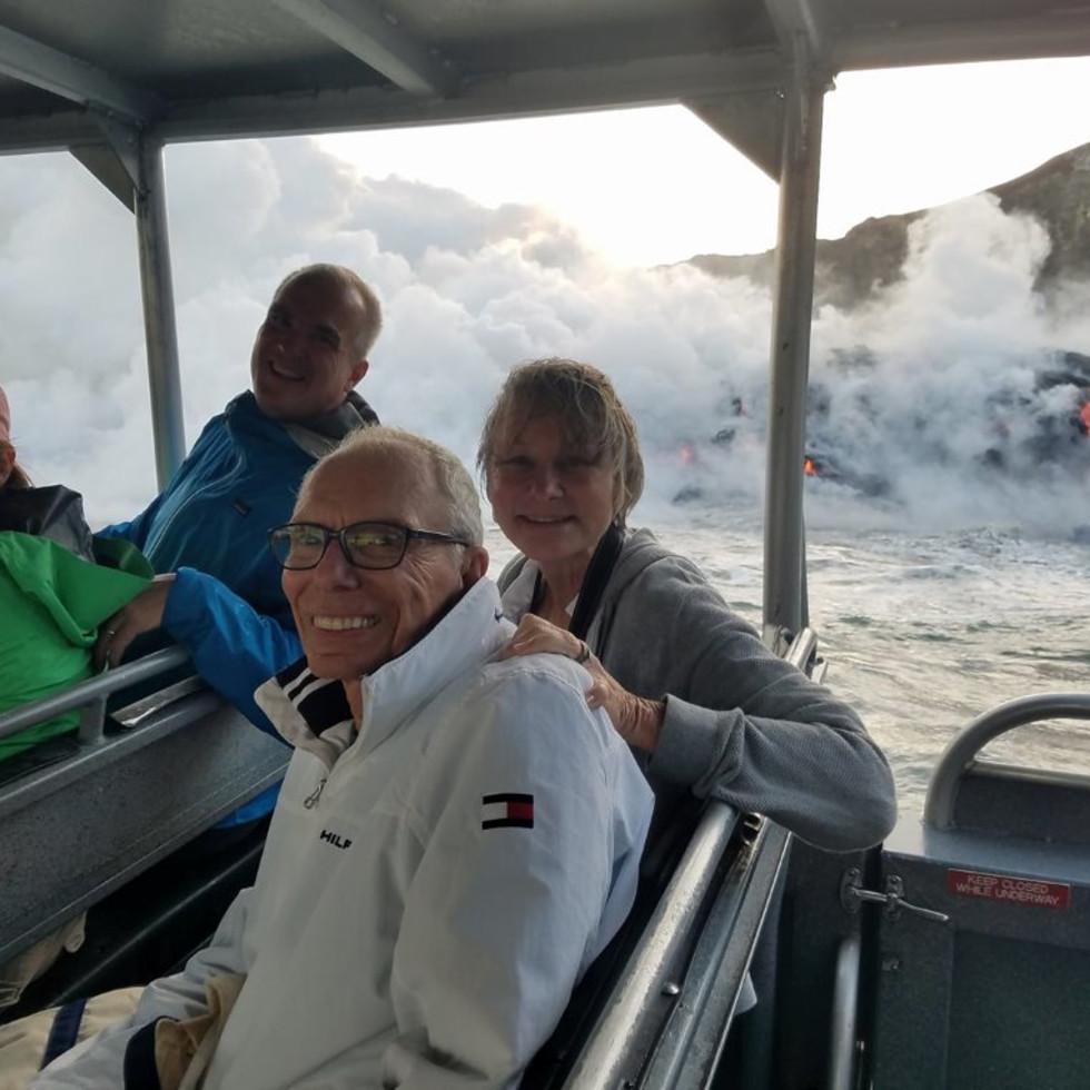 Volcano boat Jane Howze and John Mann