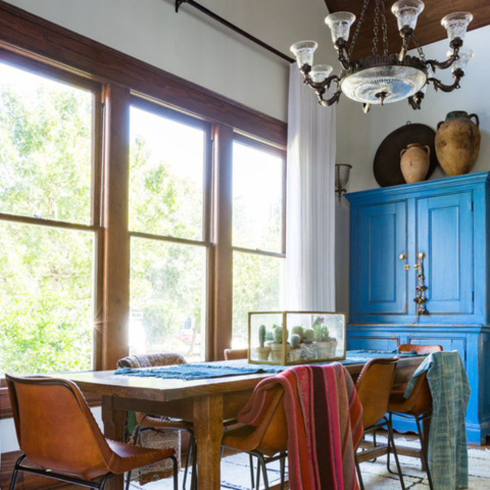 Houston, Houzz Bohemian-Chic Style Home for a New Family, June 2017, dining room