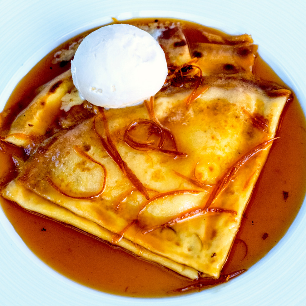 Houston, new brunches, July 2017, Cafe Azur crepe Suzette
