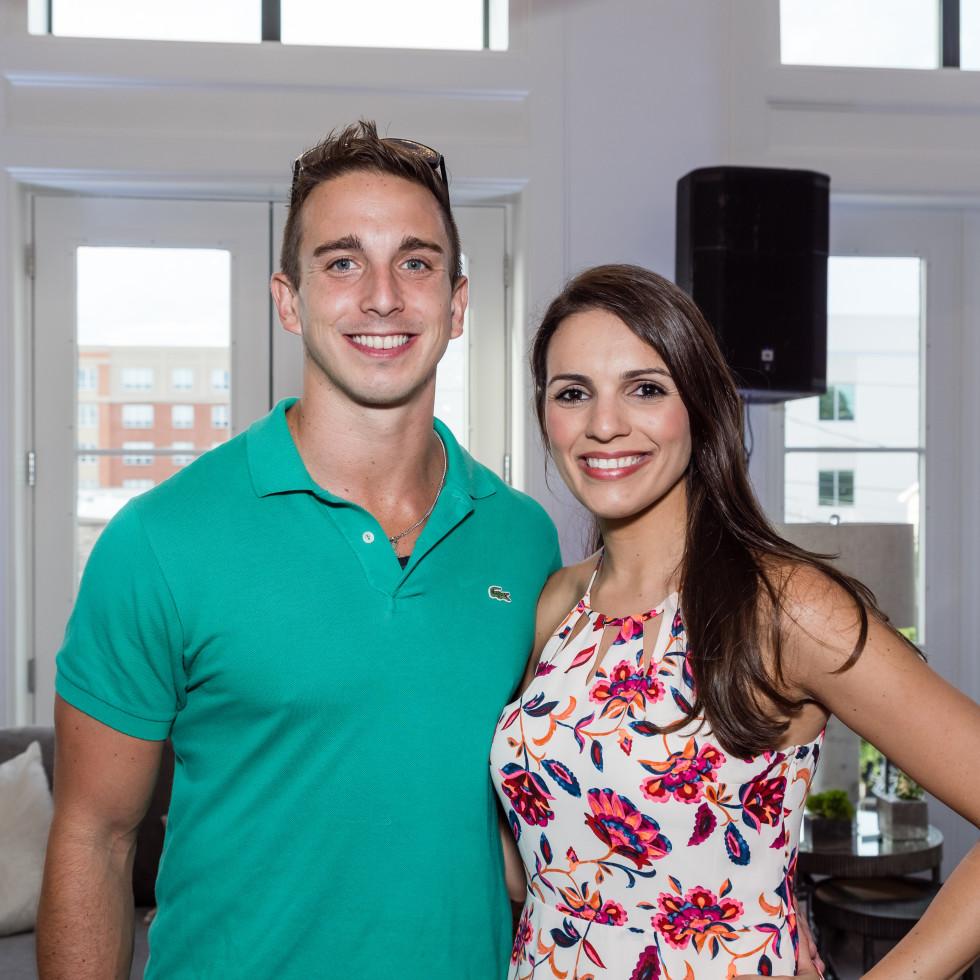 Houston, Carnegie Homes event, July 2017, Martina Albino, Theo Gaithanaros