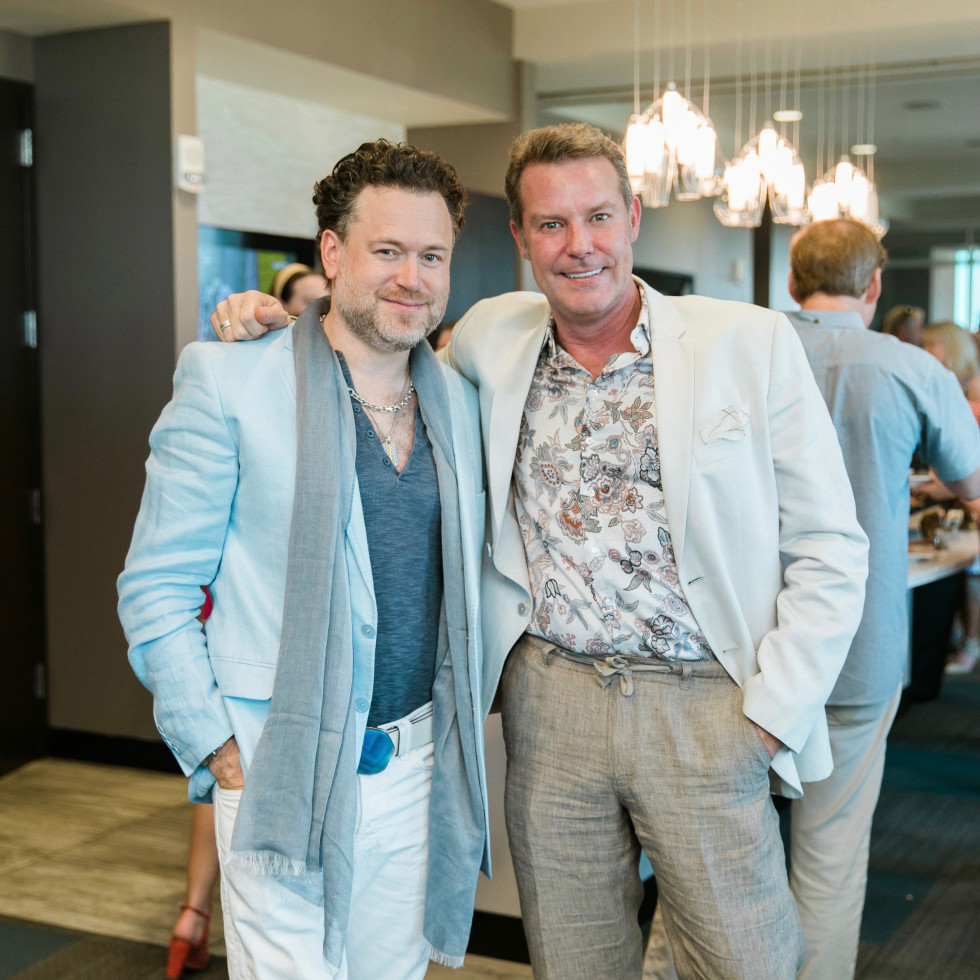 Gregg Harrison, Paul-David Van Atta at CultureMap Country Club Social