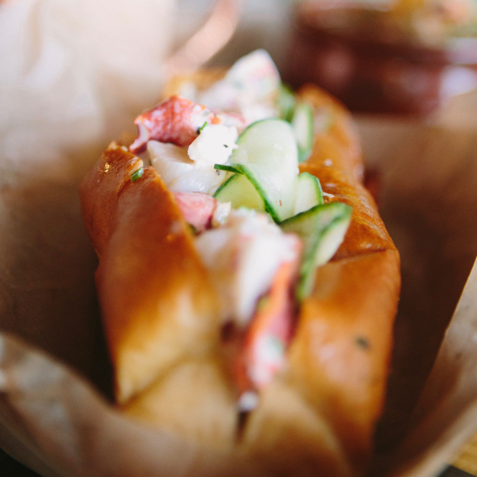 South Bank Seafood Bar lobster roll