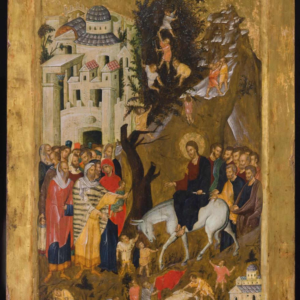 Menil Collection: Unidentified artist, Entry into Jerusalem