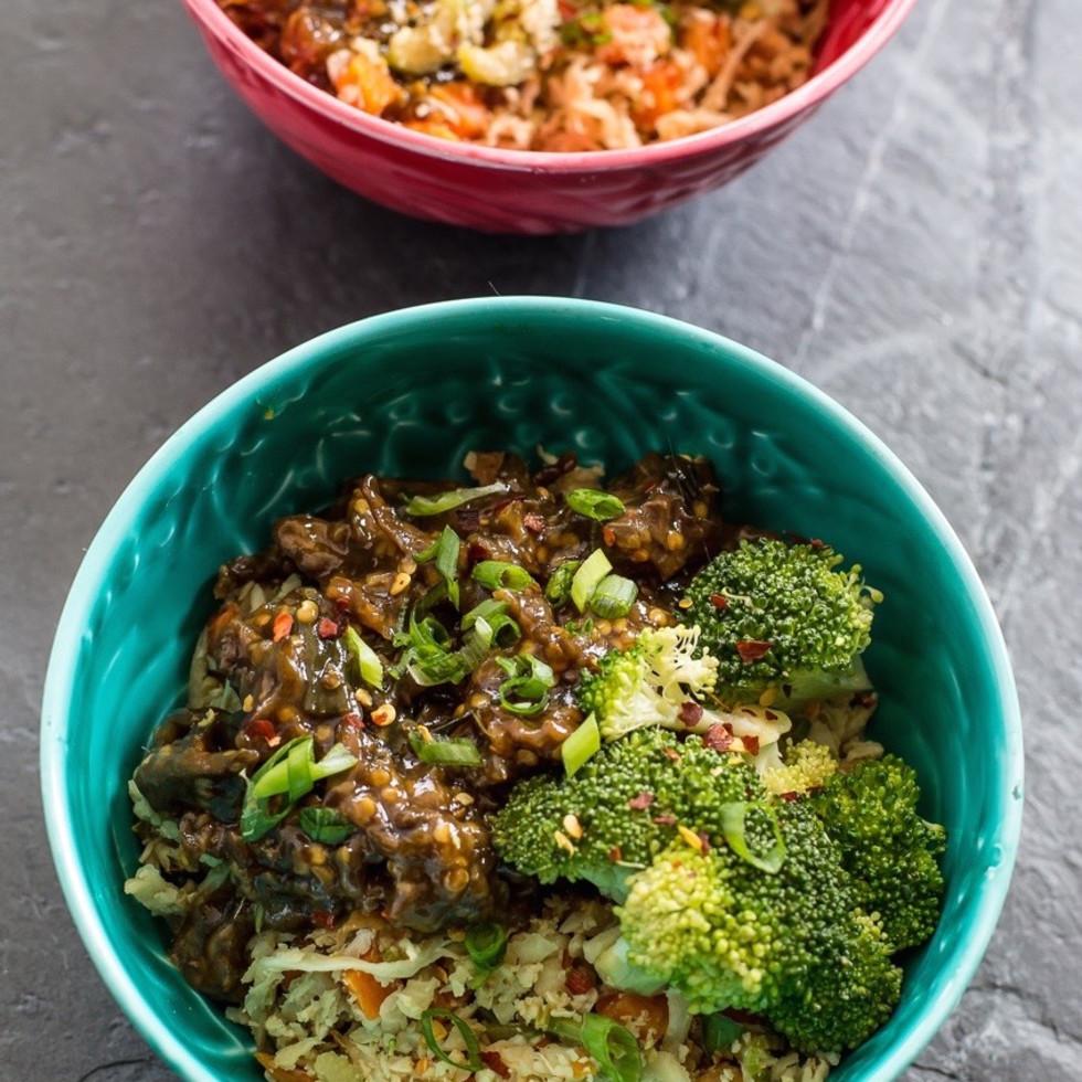 Juiceland chow fun veggie bowl