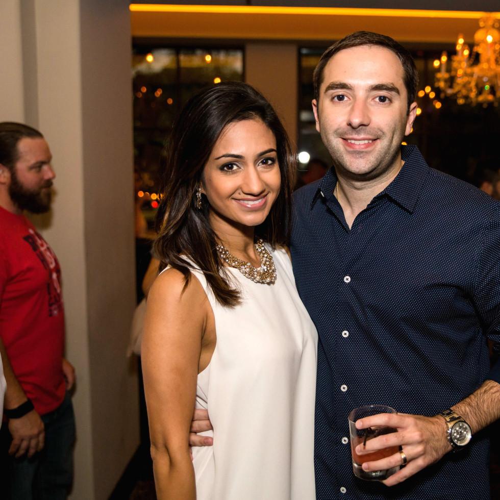 Houston, SportsMap launch party, October 2017, Rashi Vats, Daniel Gotera