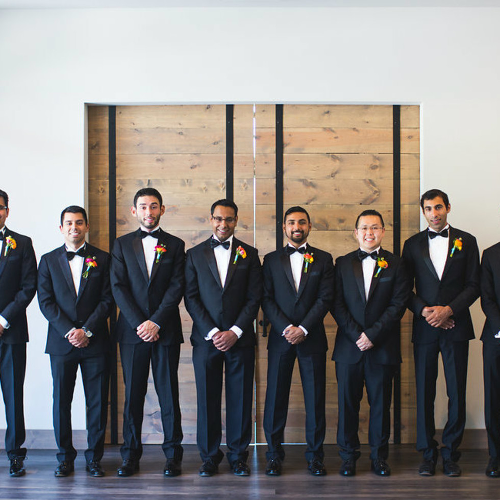 Siddiqui wedding, groomsmen, Real Weddings 2017