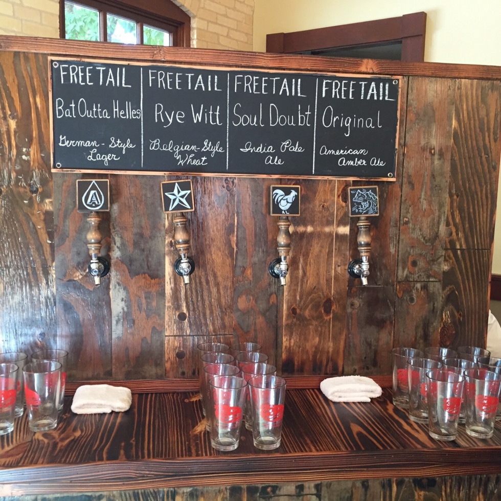 Beer bar with craft beer from Freetail Brewery