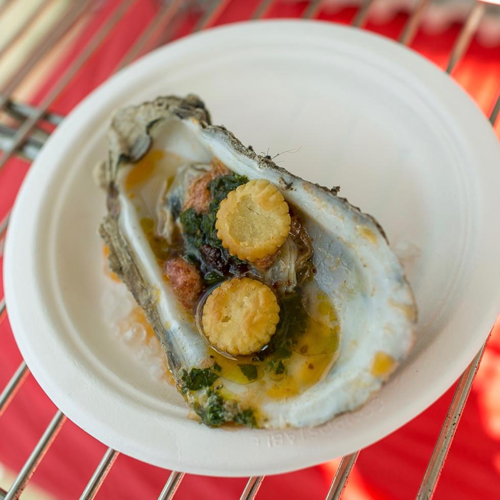 Southern Smoke 2017 Ashley Christensen smoked oyster