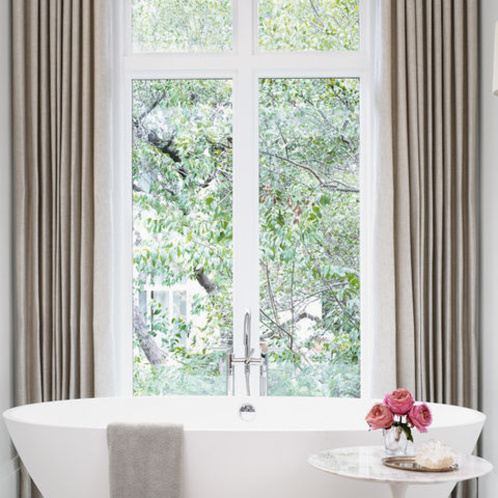 Tuscan home makeover Austin master bath