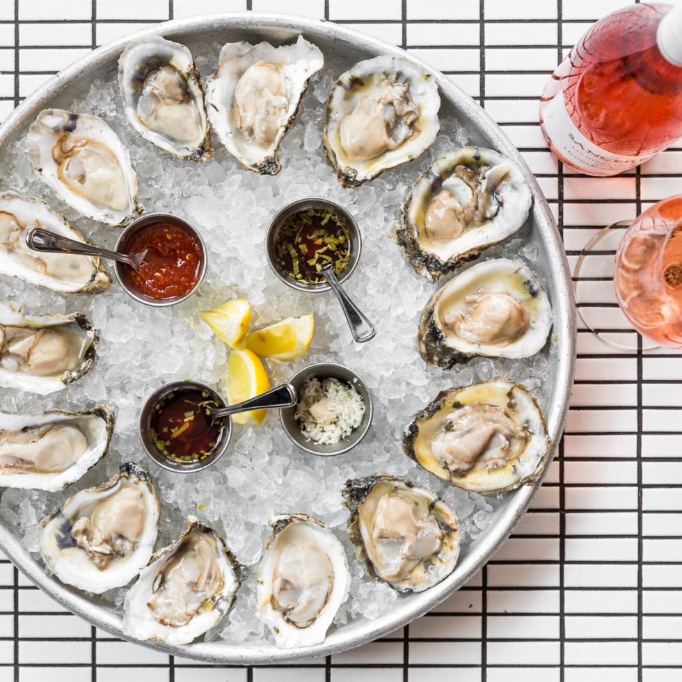 State of Grace oysters and rose