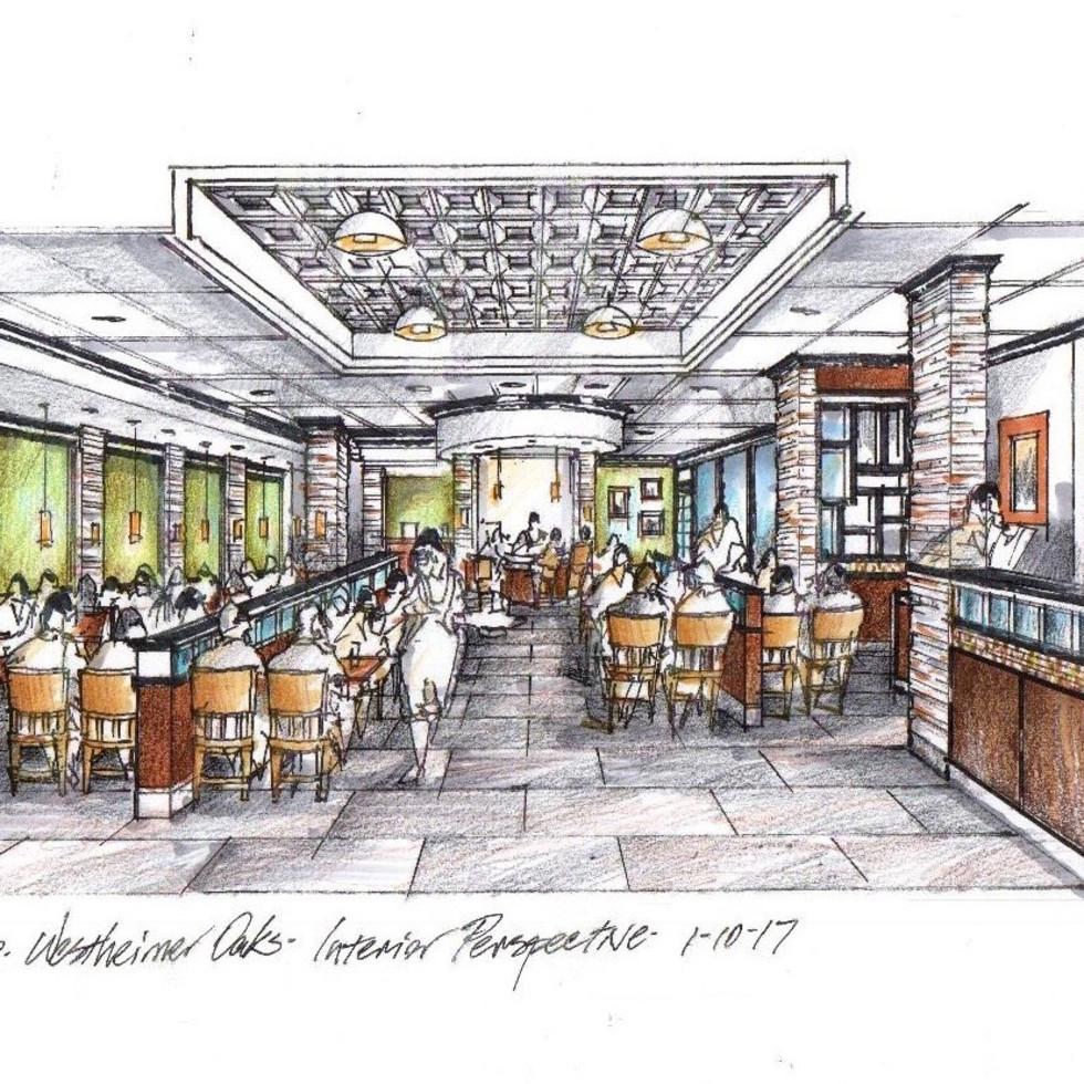 Le Peep new location interior drawing