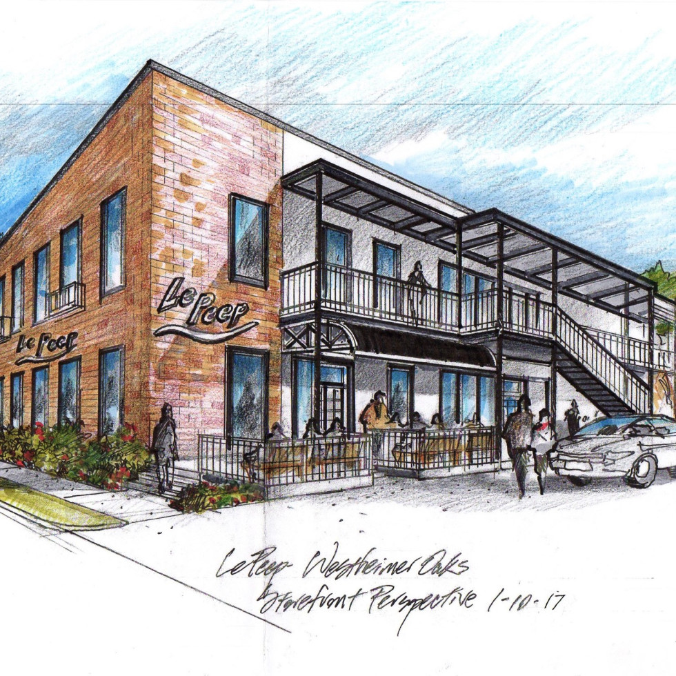 Le Peep new location exterior drawing