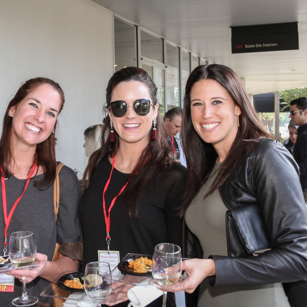 Jennie Simmons, Elizabeth Corey, Stephanie Taylor at Risotto Festival