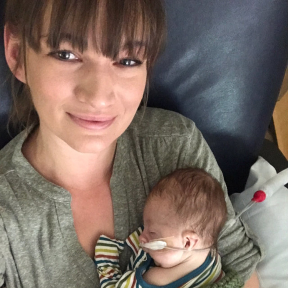 Krystal Smith and her son, Gus