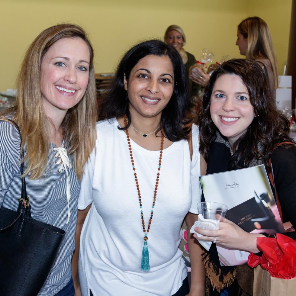 Sarah Raggio, Preeya Gemd, Meghan Demicco, 2017 CultureMap Dallas Holiday Pop-up