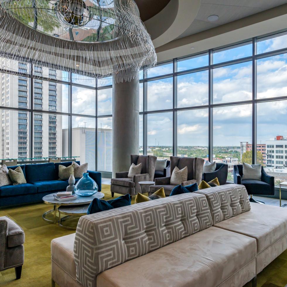 Houston, Aris Market Square, December 2017, Sky Lounge for residents