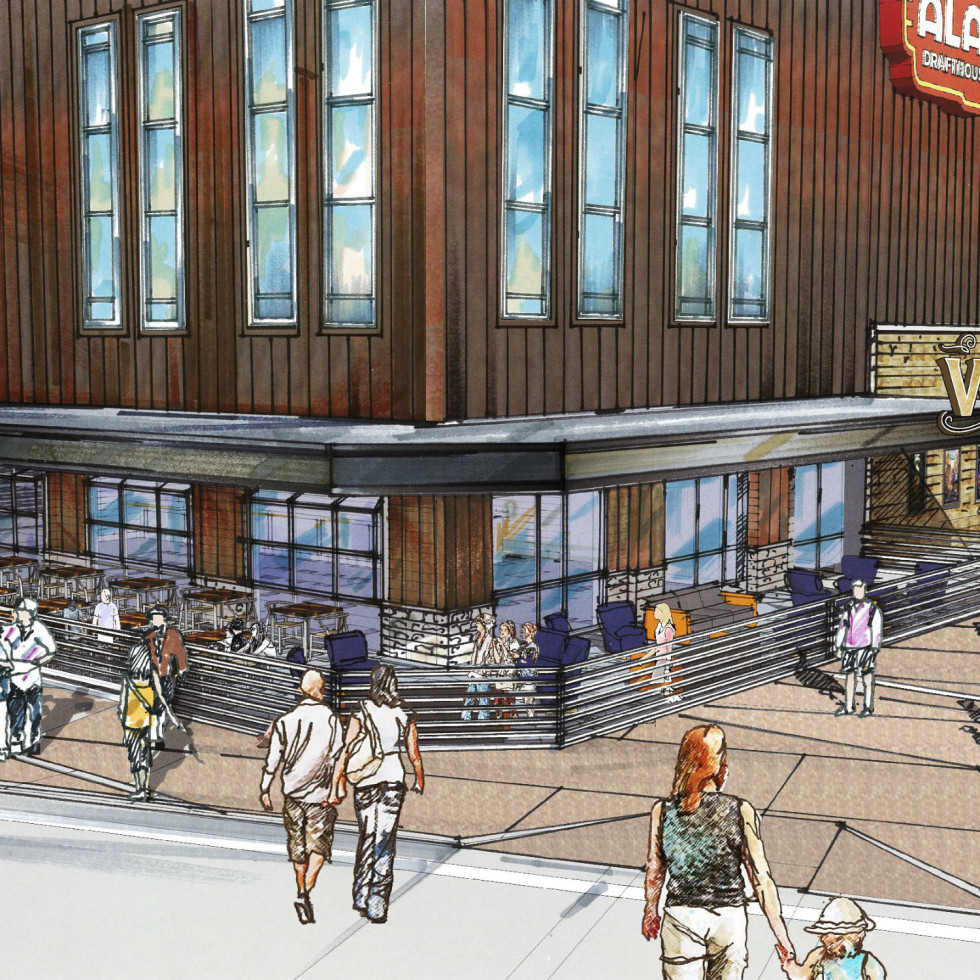 Rendering of Vetted Well at Alamo Drafthouse Denton
