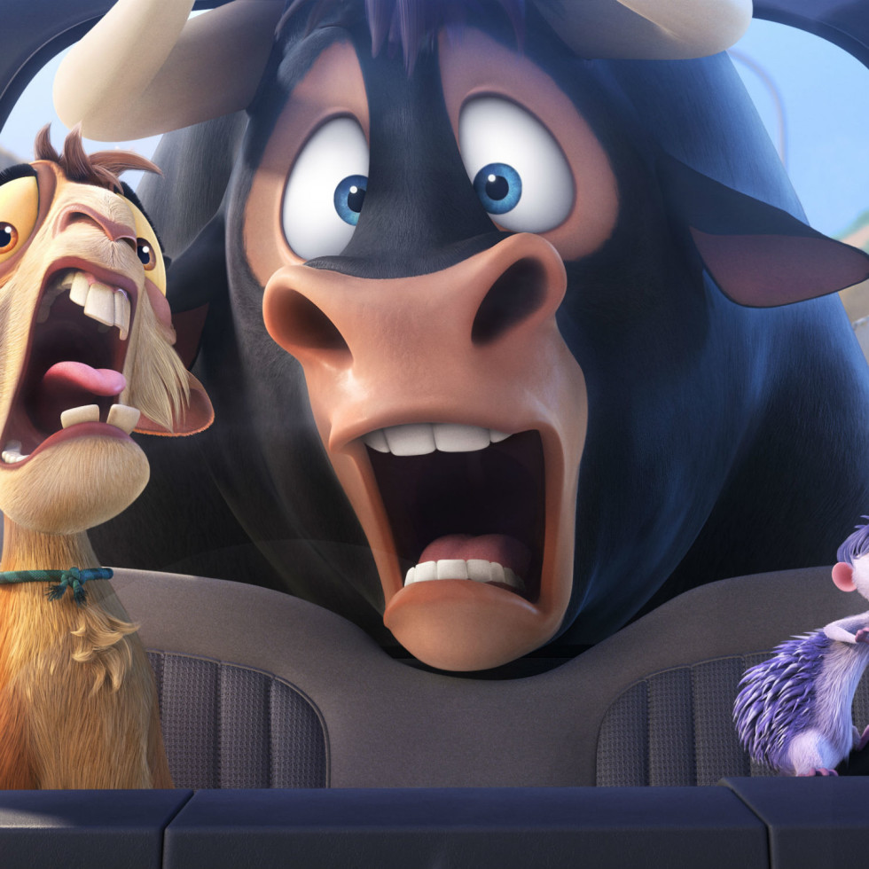 Kate McKinnon, John Cena, and Daveed Diggs in Ferdinand