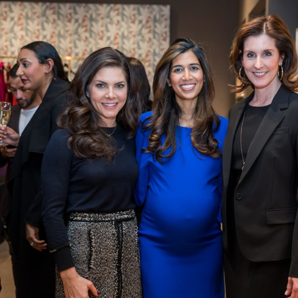 Houston, Table Talk Honoree party, January 2018, Monica Hartland, Divya Brown, Phoebe Tudor