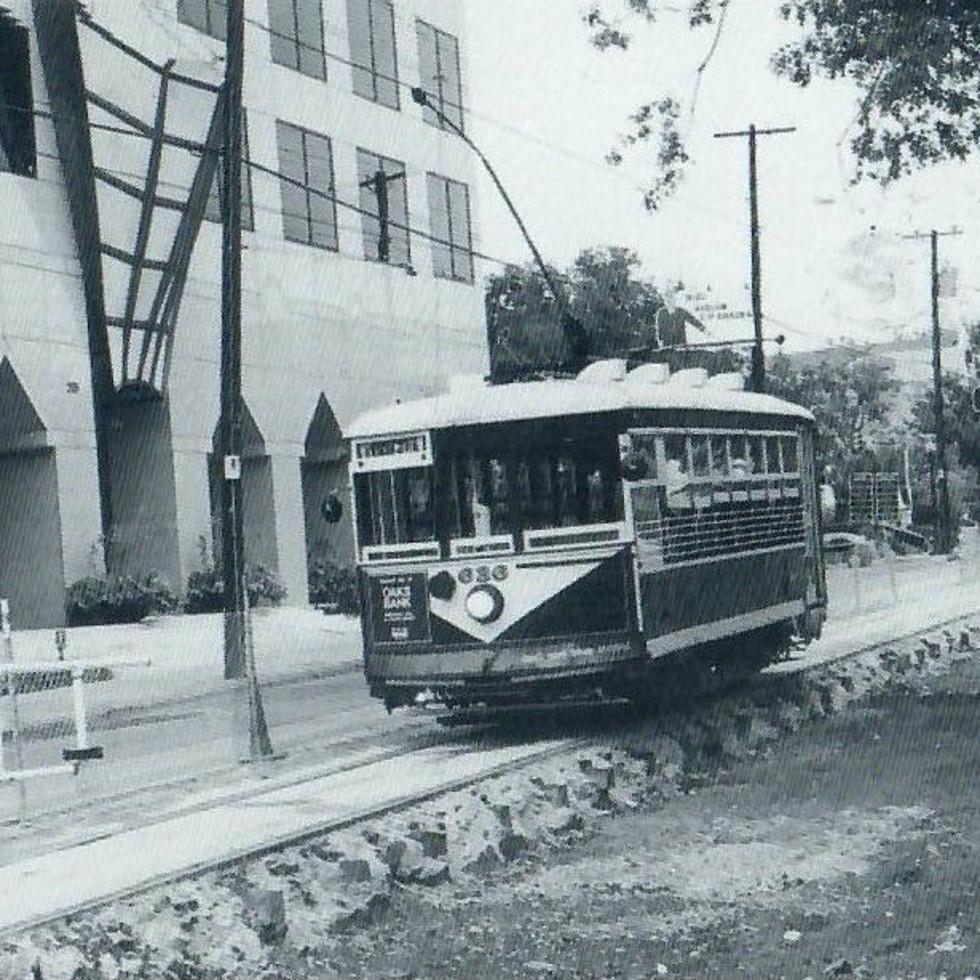Historical photo of McKinney Avenue Trolley