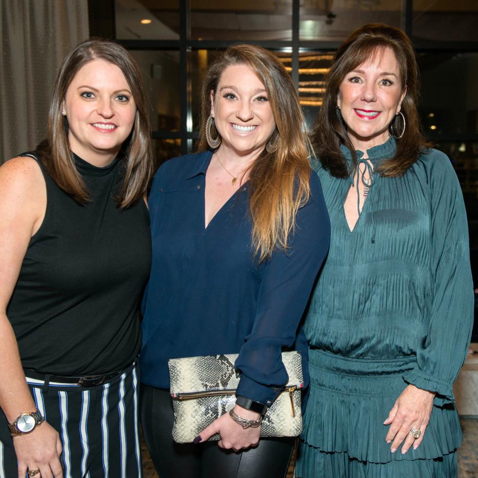 Houston, ZaZa Memorial City grand opening, February 2018, Casey Mitchell, Laura Stein, Elizabeth Stein