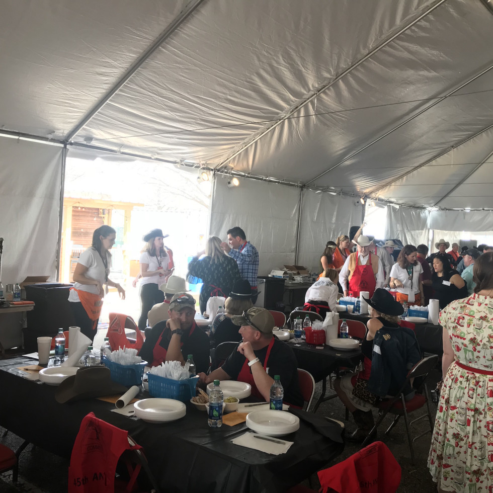 Rodeo barbecue cook-off judging