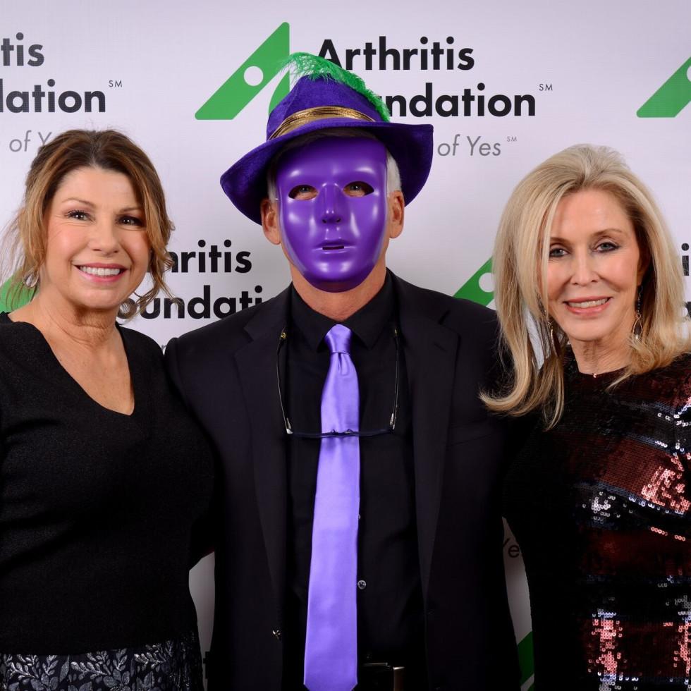 Sharon Devereux, Paul Devereux, Kathy Clark, Arthritis Foundation Mardi Gras Ball