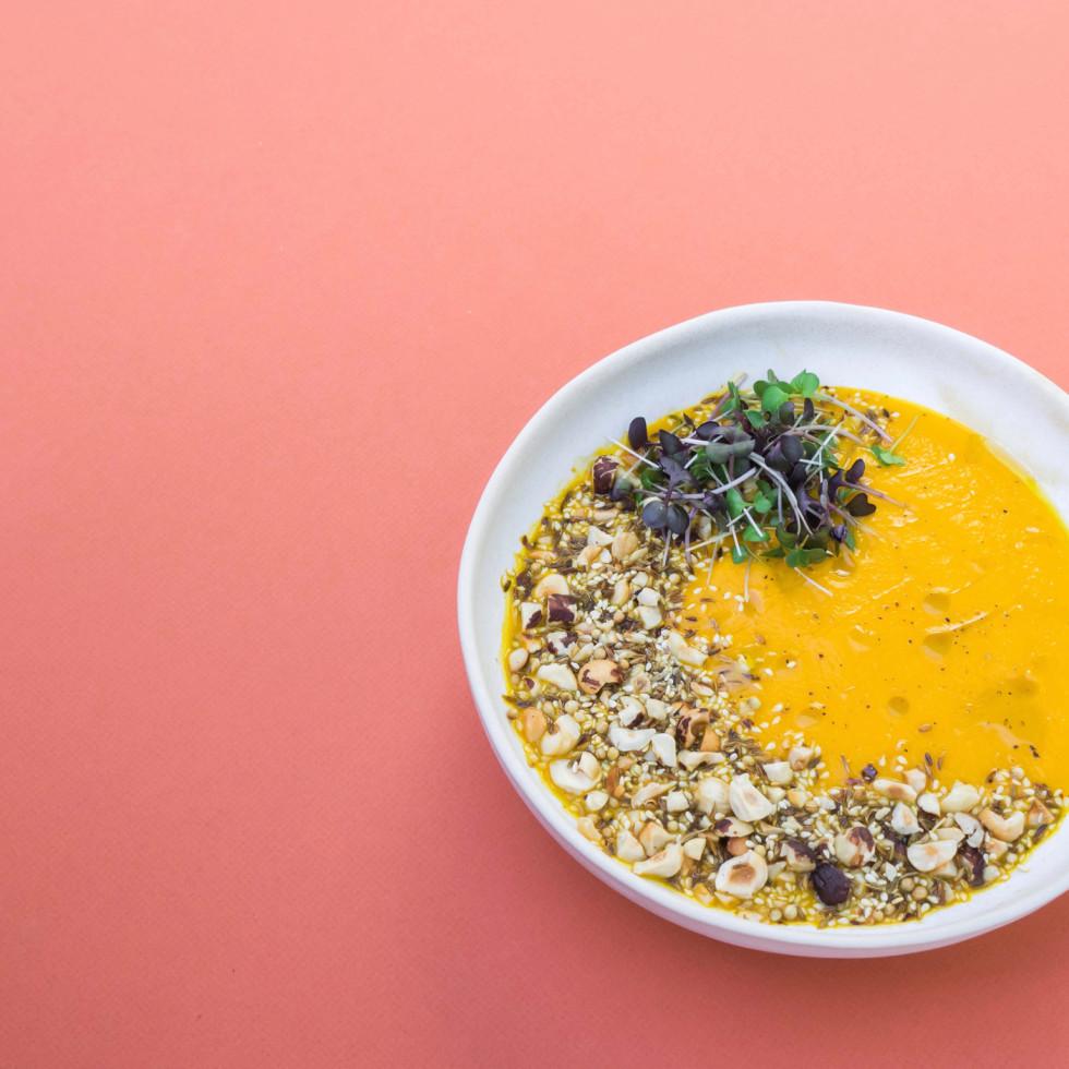 Vibrant Restaurant carrot ginger soup