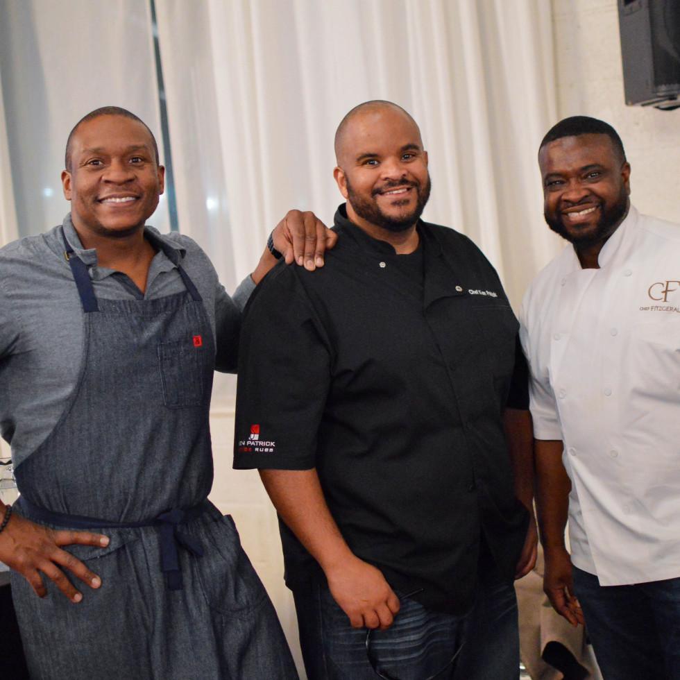 Tre Wilcox, Ken Patrick, Fitzgerald Dodd, Symphony of Chefs 2018
