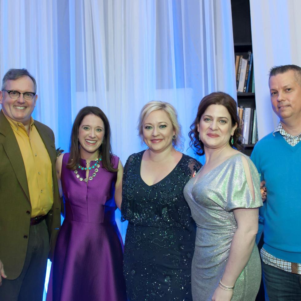 Junior League Viva Big D party 2018, Greg Nieberding, JLD President Jennifer Tobin, Heather Bonfield, JLD Development Vice President Elizabeth Dacus and Lance Hickman