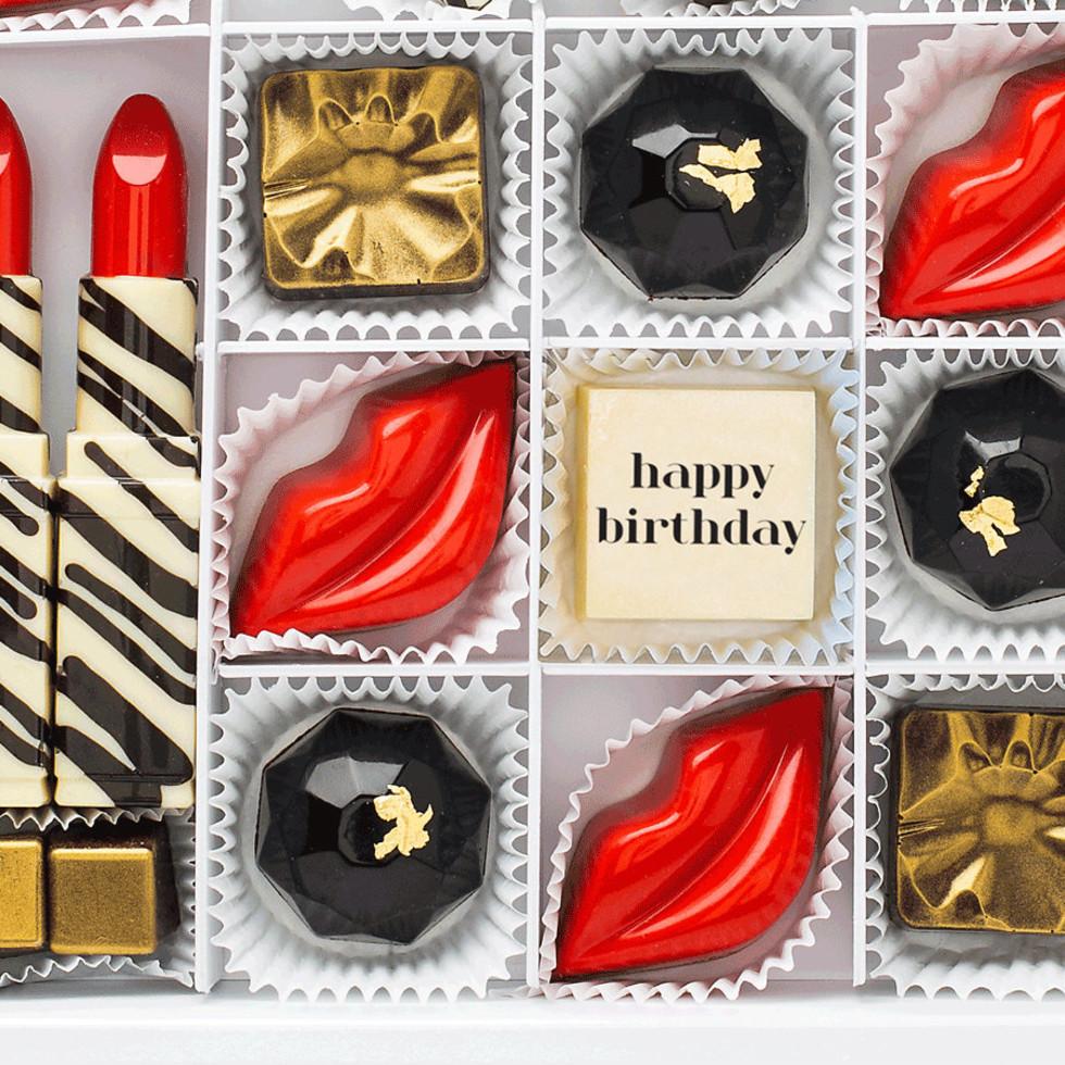 Glam happy birthday chocolates