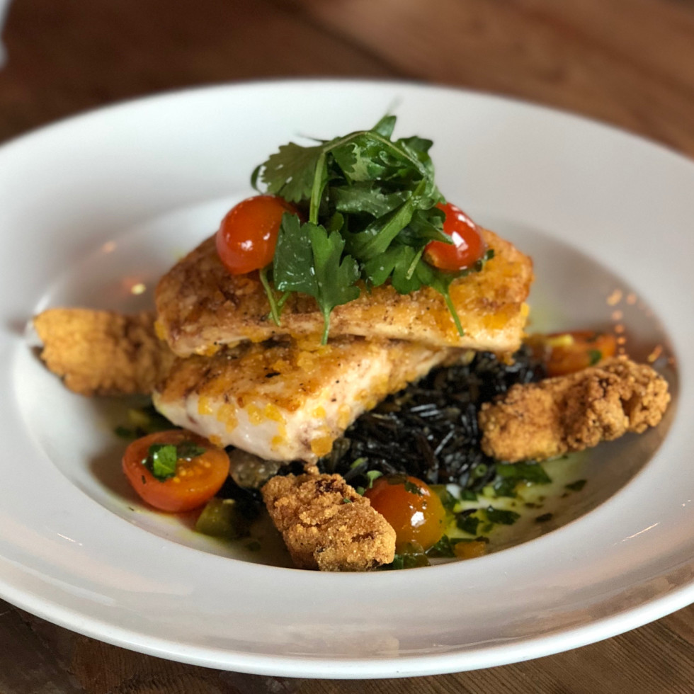 Field & Tides seafood dish