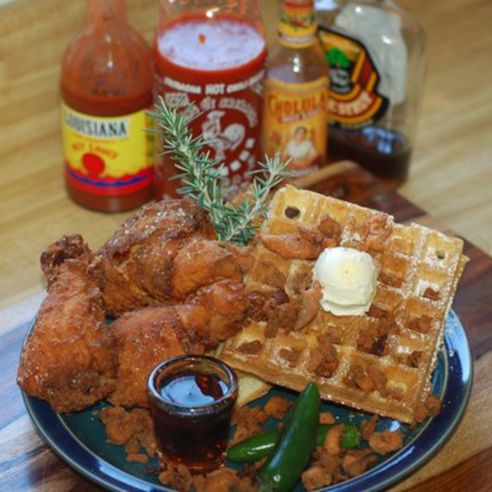 Austin Photo: Places_Food_ms_ps_electric_cock_waffles