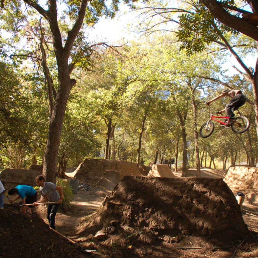 Austin Photo Set: Places_unique_austin_9th_street_dirt_jumps_jump