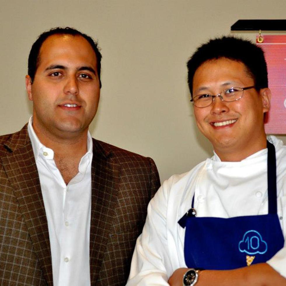 Christopher Balat, left, and Chris Leung