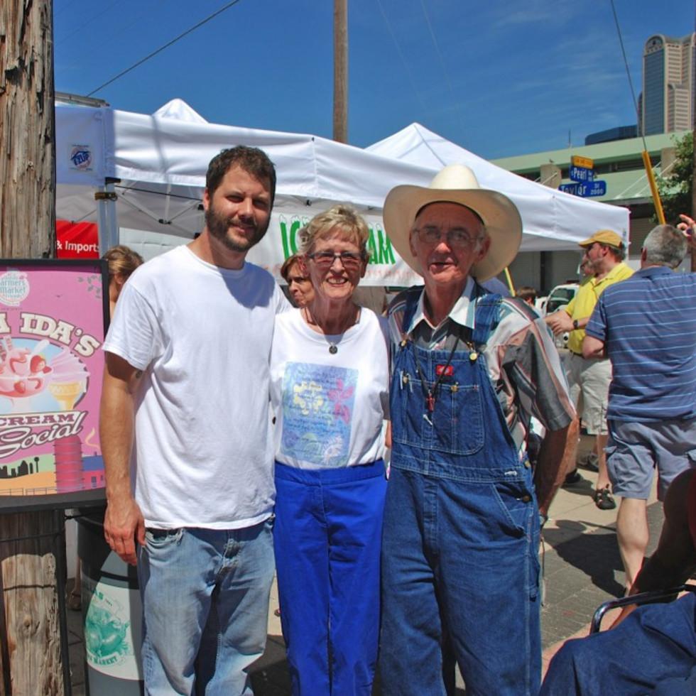 Mama Ida Papert at the Dallas Farmers Market