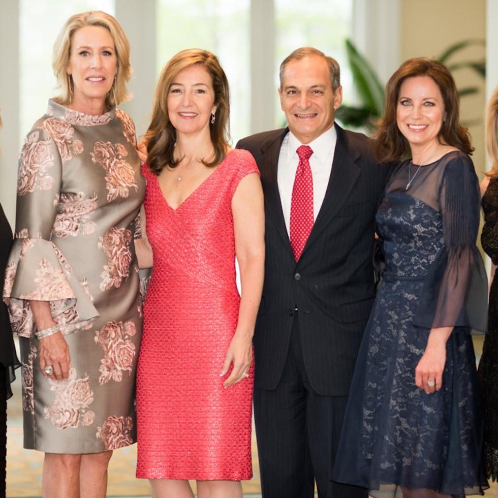 Ronald McDonald House gala, 1 Jill Cumnock, Cecilie Holman, Susan and David Rosenberg, Christine Cook, and Diane Fullingim