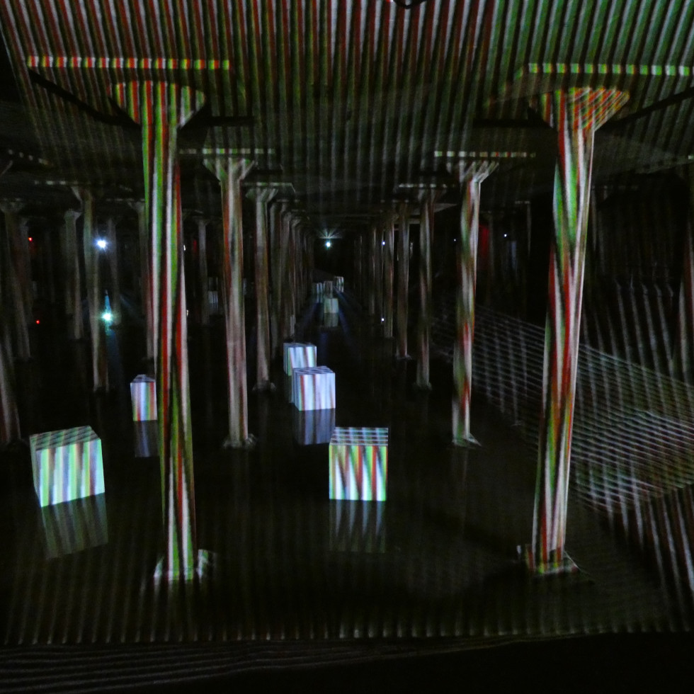 Carlos Cruz-Diez at the Cistern: Spatial Chromointerference  2
