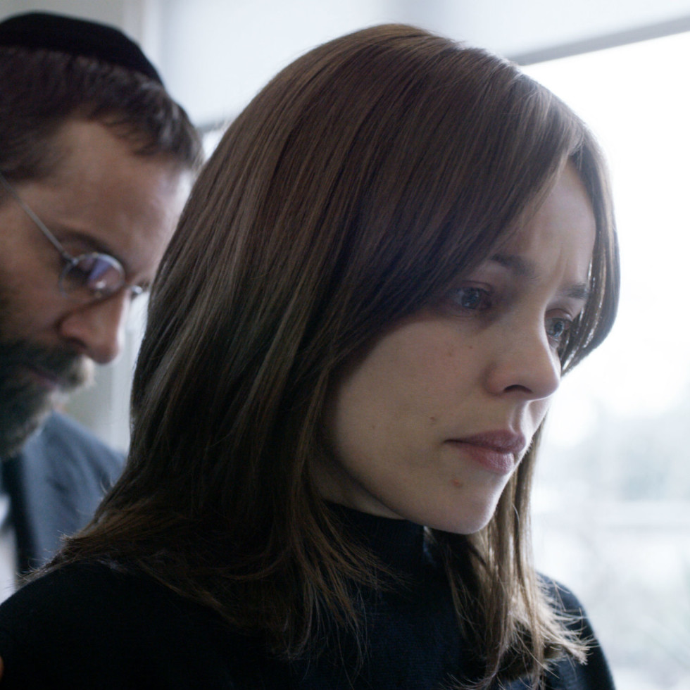 Alessandro Nivola and Rachel McAdams in Disobedience