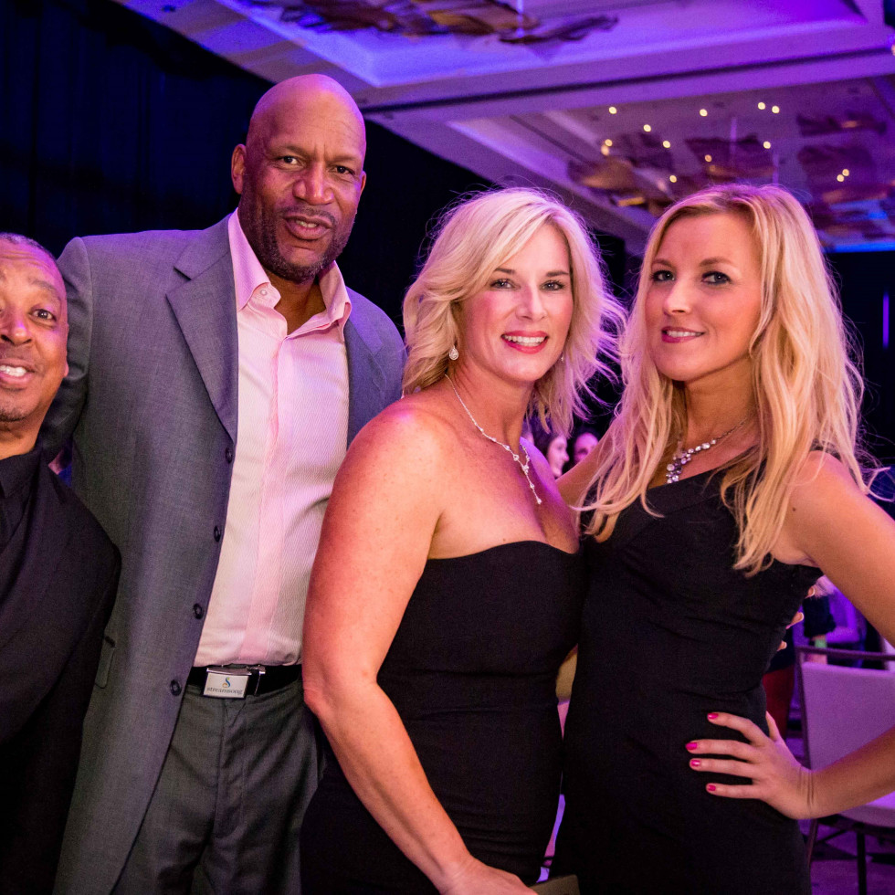 Spud Webb, Ron Harper,  Carin Alves, Kelly Sheehan