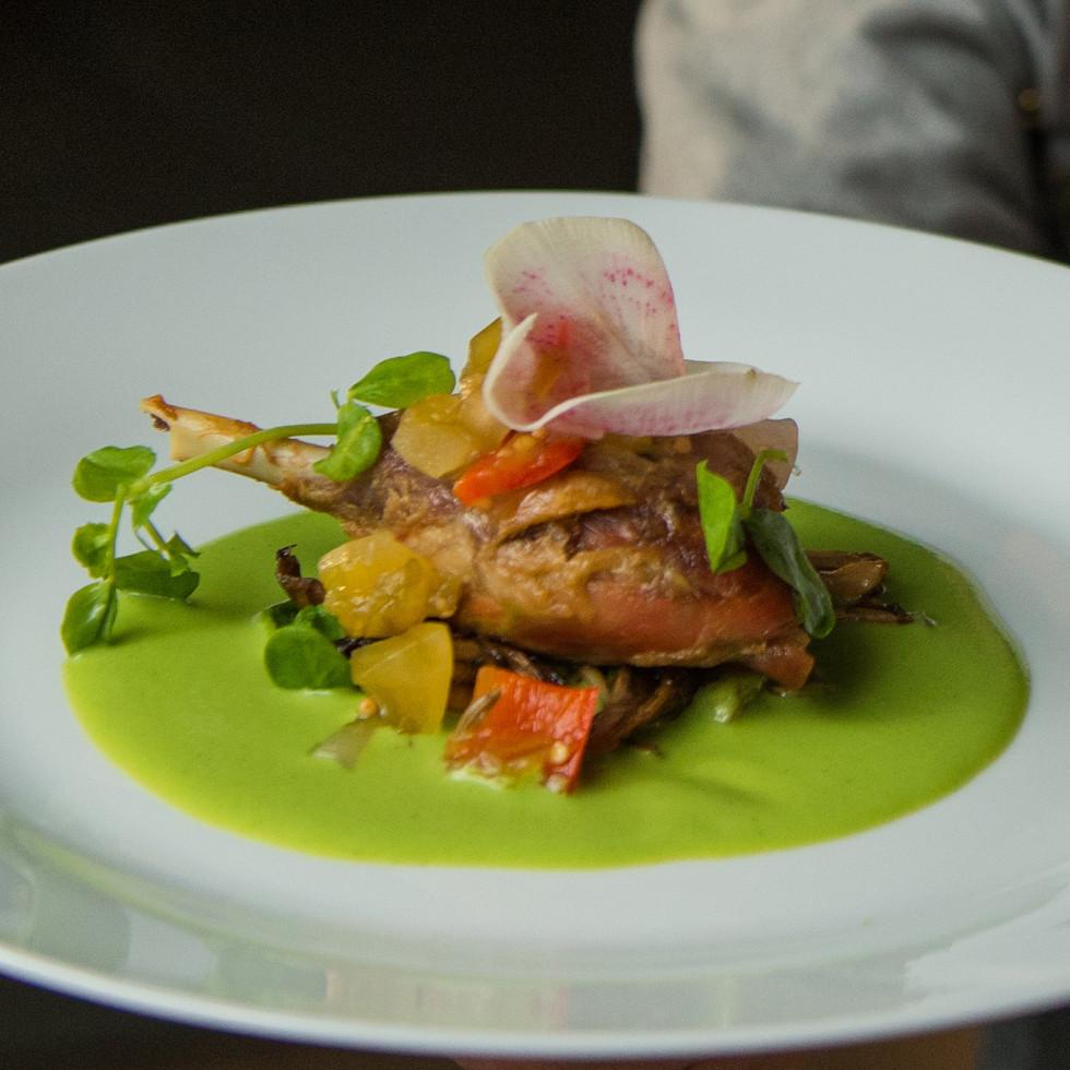 Delicious Alchemy Chef Maurizio Ferrarese's Smoked Duck Leg