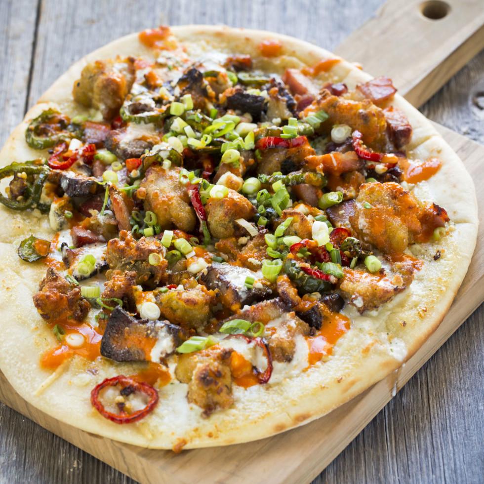 B&B Butchers carpet bagger pizza