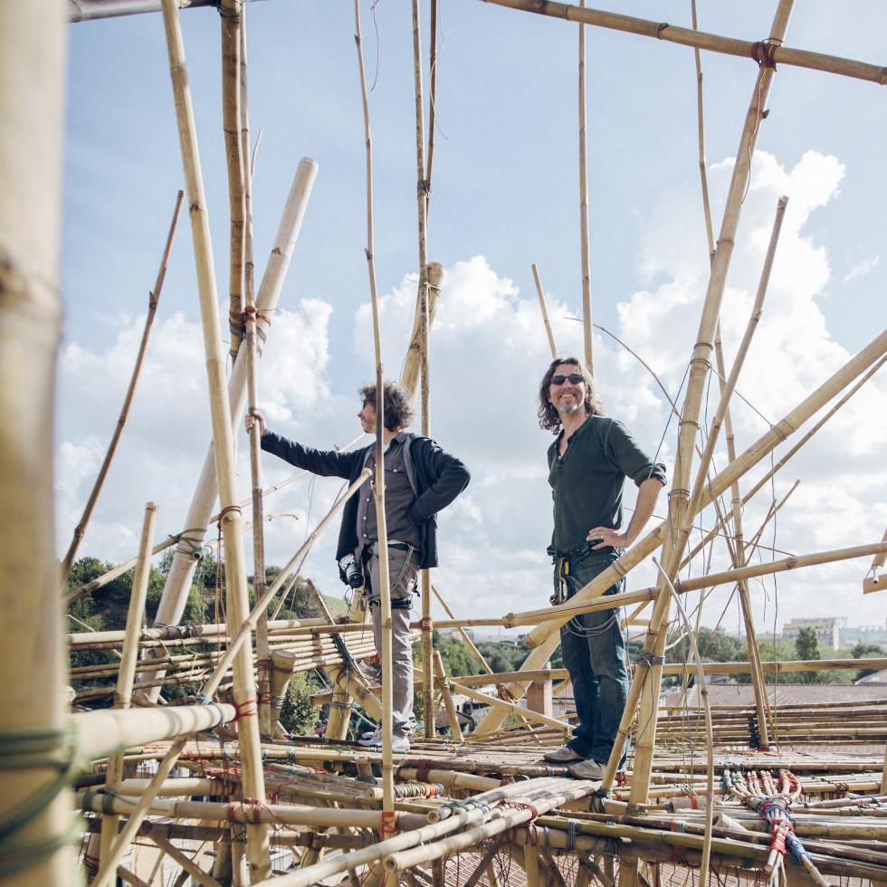 MFAH Big Bambú Mike and Doug Starn