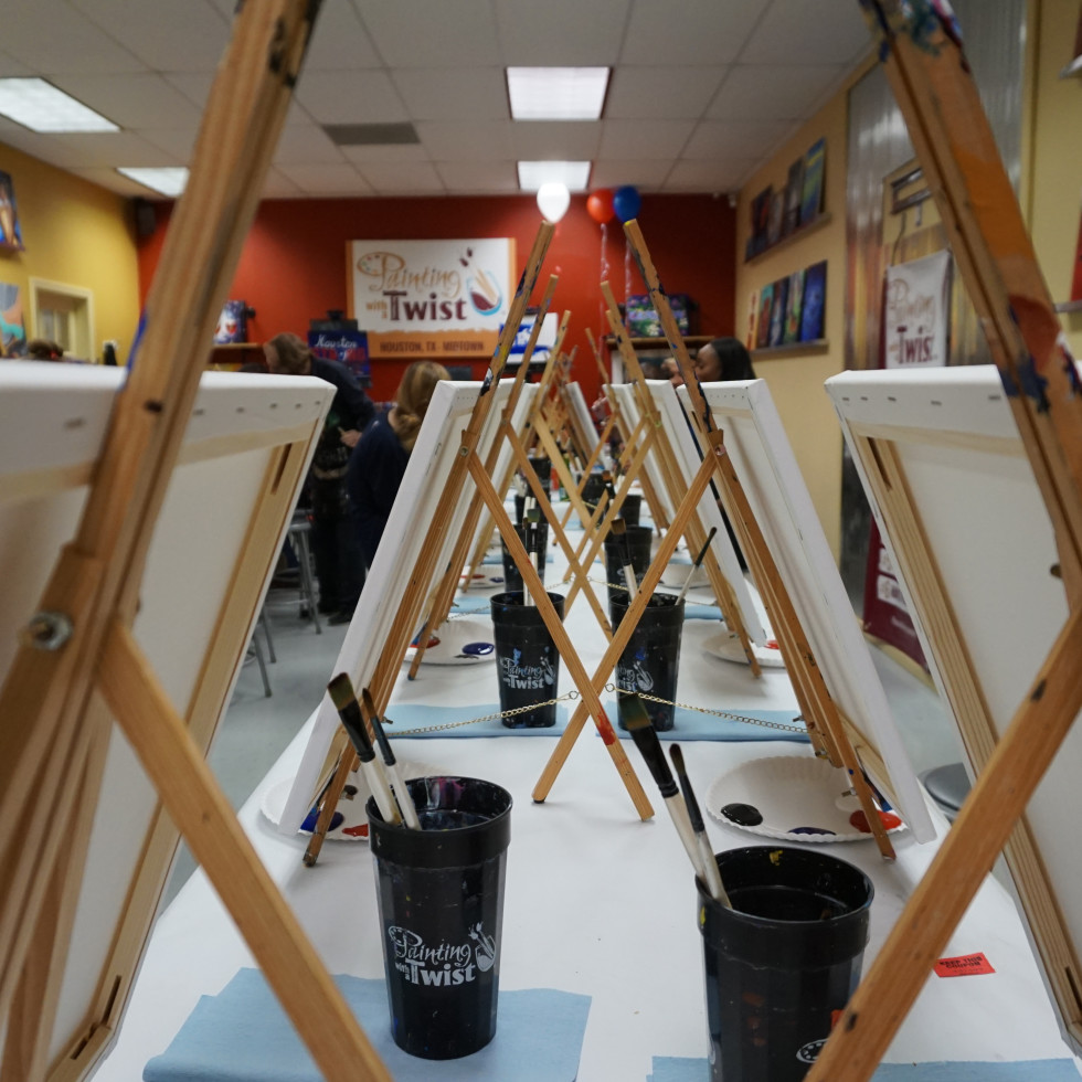 Canvases at Painting With a Twist