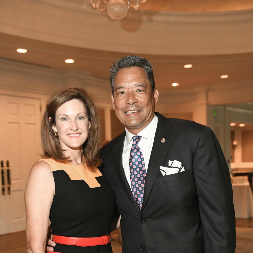 Mayor's Literacy Breakfast Stephanie and Frank Tsuru
