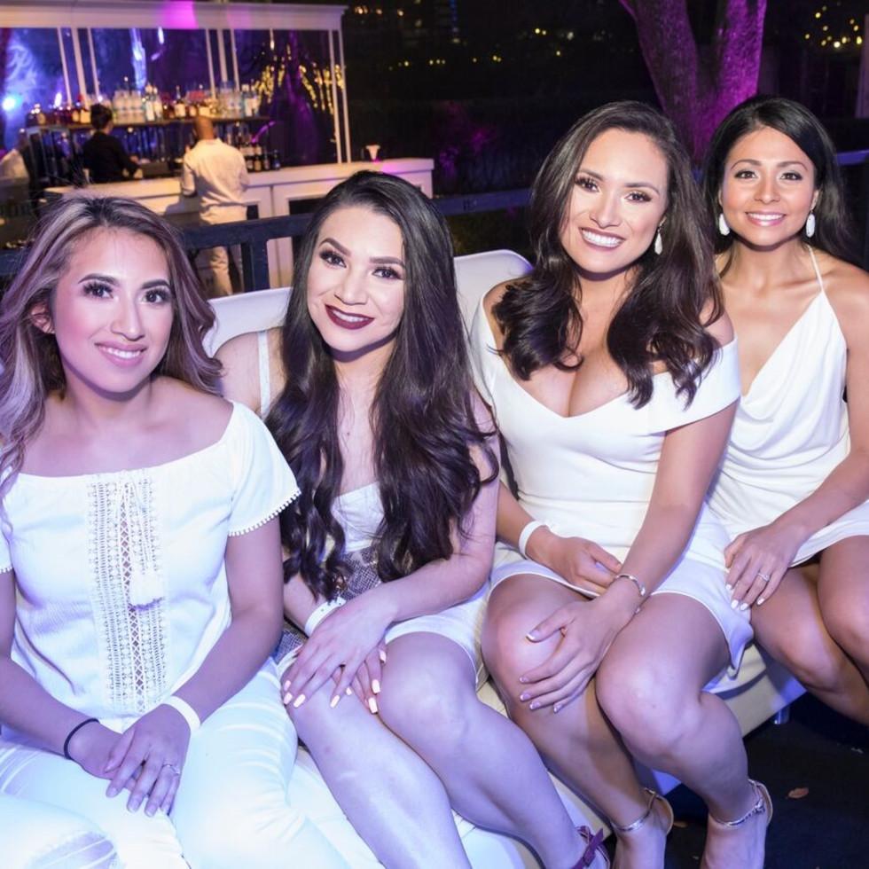 Sheila Cardenas, Ana Martinez, Areli Gonzalez, Mercedes Fowler, White Party 2018